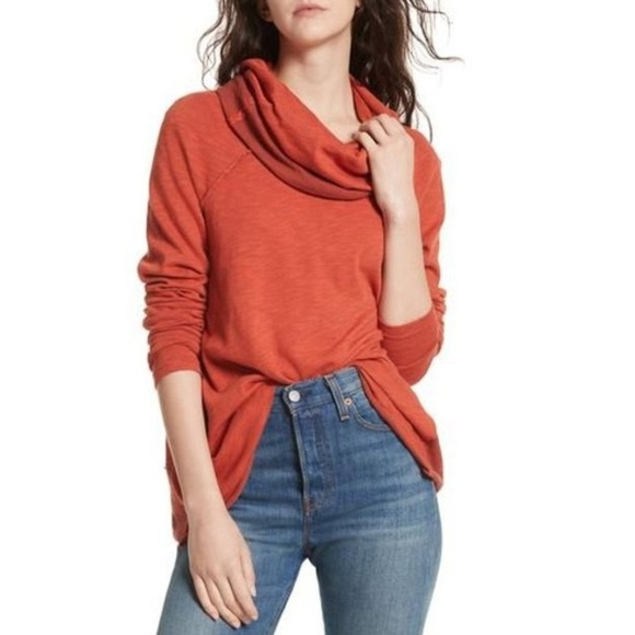 4ef48c6d9c Free People Sweaters - Free People Cocoon Pullover Cowl Neck Top M/L